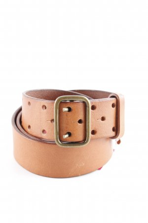 Marc O'Polo Leather Belt cognac-coloured-gold-colored casual look