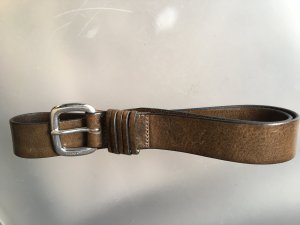 Marc O'Polo Leather Belt grey brown leather