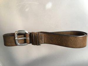 Marc O'Polo Lederen riem grijs-bruin Leer