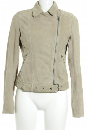 Marc O'Polo Lederjacke beige Casual-Look
