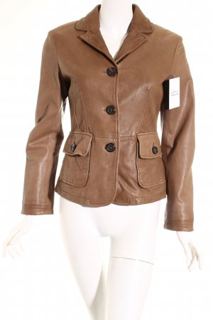 Marc O'Polo Lederjacke braun Retro-Look
