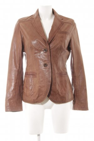 Marc O'Polo Lederjacke cognac Casual-Look