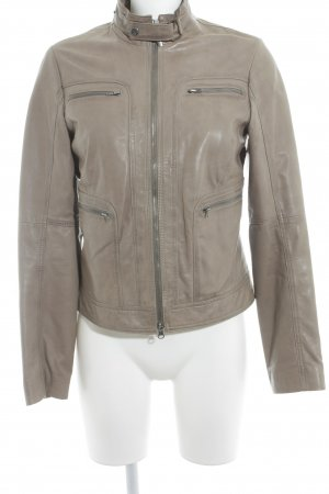 Marc O'Polo Lederjacke graubraun Street-Fashion-Look