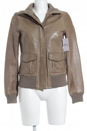 Marc O'Polo Leather Jacket light brown casual look