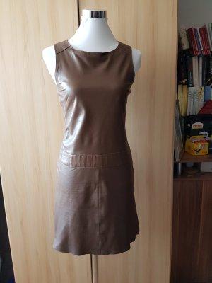 Marc O'Polo Leather Dress cognac-coloured