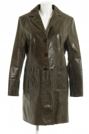 Marc O'Polo Leather Coat khaki extravagant style