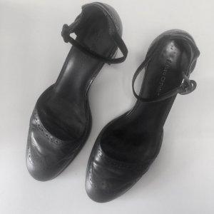 MARC O'POLO Lederpumps mit Riemchen in Schwarz
