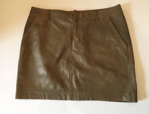 Marc O'Polo Leather Skirt olive green