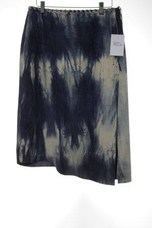 Marc O'Polo Falda de cuero blanco-azul estampado con diseño abstracto