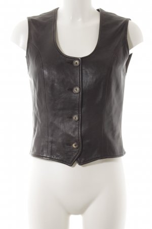 Marc O'Polo Leather Vest brown red biker look