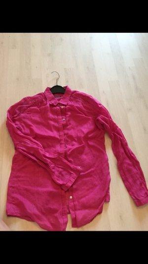 Marc O'Polo Linnen blouse magenta