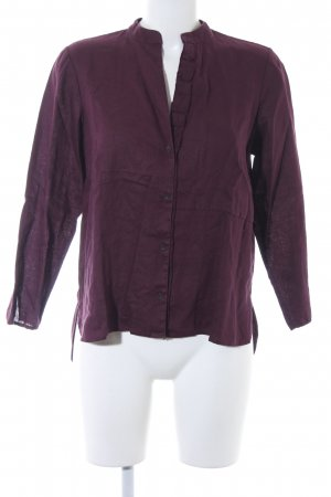 Marc O'Polo Leinenbluse brombeerrot Casual-Look