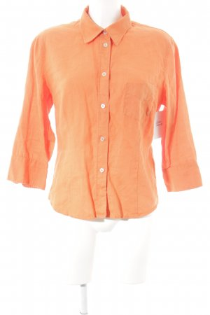 Marc O'Polo Blouse en lin orange style décontracté