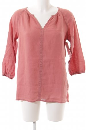 Marc O'Polo Leinenbluse rosa Casual-Look