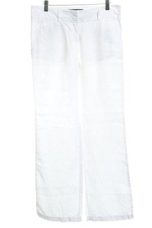 Marc O'Polo Pantalone di lino bianco stile classico