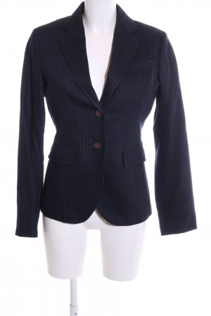 Marc O'Polo Long-Blazer blau-weiß Streifenmuster Business-Look