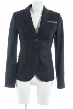Marc O'Polo Long-Blazer dunkelblau-wollweiß Nadelstreifen Business-Look