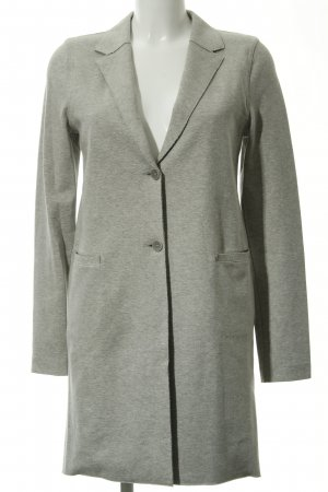 Marc O'Polo Long-Blazer hellgrau meliert Casual-Look
