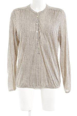 Marc O'Polo Long Shirt cream-black spot pattern casual look