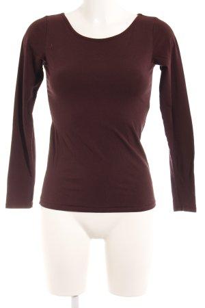 Marc O'Polo Longshirt braunrot schlichter Stil