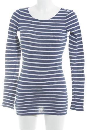 Marc O'Polo Longsleeve blau-weiß Streifenmuster Casual-Look