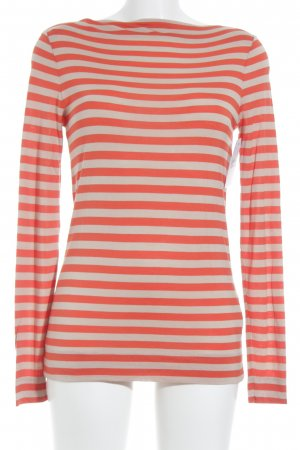 Marc O'Polo Longsleeve dunkelorange-creme Streifenmuster Casual-Look