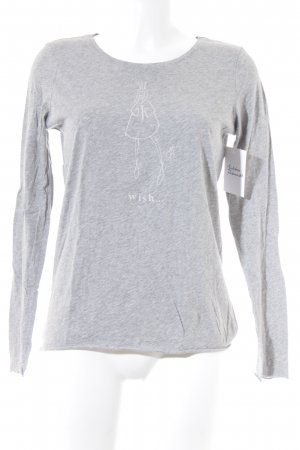 Marc O'Polo Longsleeve grau Motivdruck Casual-Look