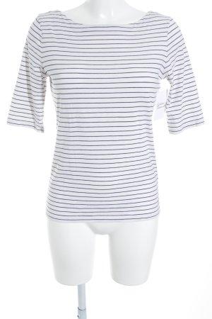 Marc O'Polo Longsleeve weiß-dunkelblau Streifenmuster Casual-Look