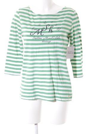 Marc O'Polo Longsleeve weiß-grün Schriftzug gedruckt Casual-Look