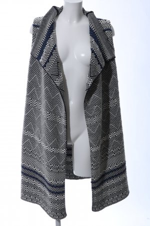 Marc O'Polo Long Knitted Vest light grey-black allover print elegant