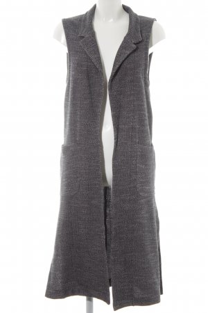 Marc O'Polo Long Knitted Vest dark blue-white flecked casual look