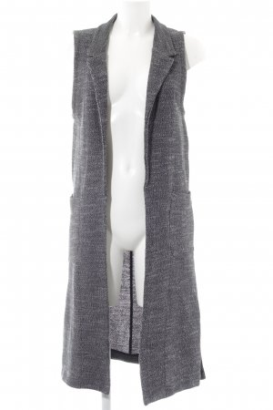 Marc O'Polo Long Knitted Vest dark grey-black flecked casual look