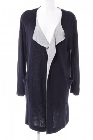 Marc O'Polo Long Knitted Vest light grey-dark blue casual look