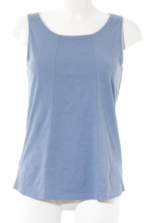 Marc O'Polo Lange top wit-azuur simpele stijl
