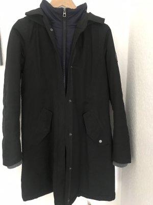 Marc O'Polo Abrigo de invierno negro-azul oscuro