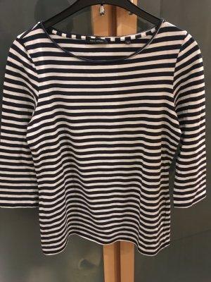 Marc O'Polo Gestreept shirt donkerblauw-wit Gemengd weefsel