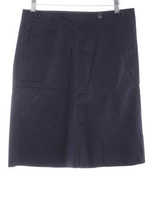 Marc O'Polo Falda midi azul oscuro estilo clásico