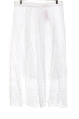 Marc O'Polo Falda midi blanco modelo de punto flojo look casual