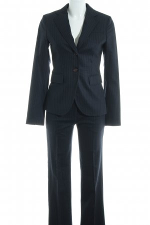 Marc O'Polo Pinstripe Suit dark blue striped pattern business style