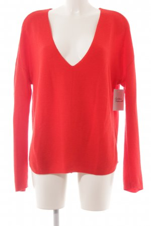 Marc O'Polo Oversized Pullover rot Casual-Look