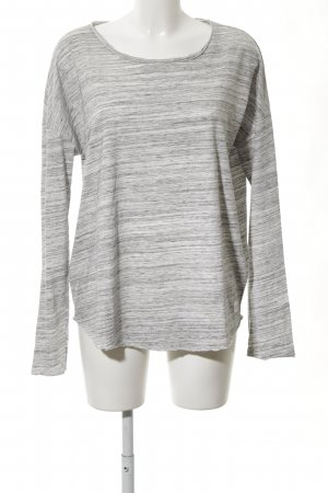 Marc O'Polo Oversized shirt wit-lichtgrijs gestippeld simpele stijl