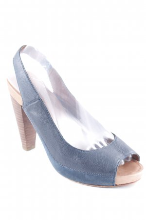 Marc O'Polo Peeptoe Pumps petrol Casual-Look