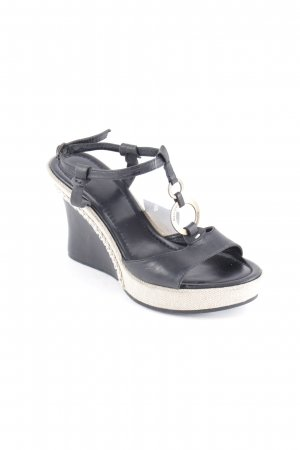 Marc O'Polo Plateau-Sandaletten schwarz klassischer Stil