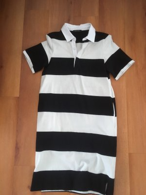 Marc O'Polo Polo Dress black-white cotton