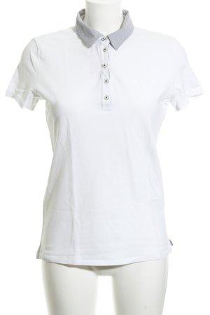 625dbfc69f Marc O'Polo Polo-Shirt weiß-hellgrau Allover-Druck sportlicher Stil