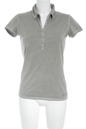 Marc O'Polo Camiseta tipo polo marrón grisáceo look casual