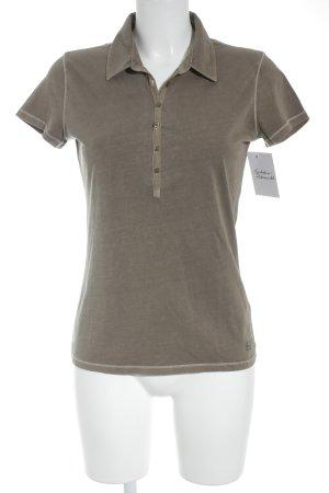 Marc O'Polo Camiseta tipo polo gris verdoso look casual