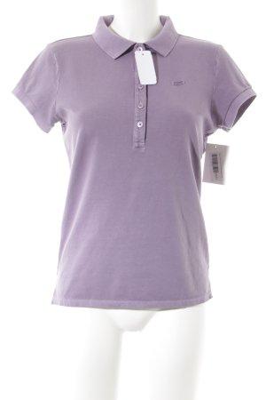 Marc O'Polo Camiseta tipo polo lila look casual