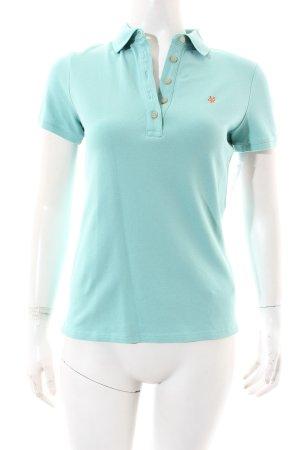 Marc O'Polo Polo-Shirt türkis sportlicher Stil