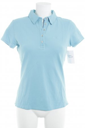 Marc O'Polo Polo Top hellblau Casual-Look